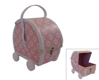 Image Pram Case, Orchid Pink/White Flowers
