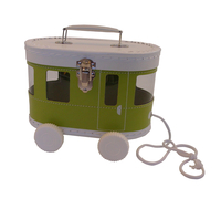 Image Trolley Case, Apple Green/White