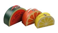 Image Mixed Fruit Cases, 3 Set, Multicolor