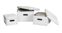 Image Dinnerware Storage Boxes, 3 Set, White