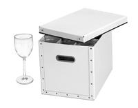 Image Stemware Storage Box, White