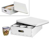 Image Cup-Mug-Platter Storage Box, White