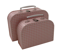 Image Gingham Cases, 2 set, Pink/White