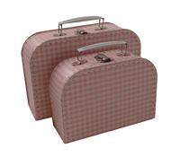 Image Gingham Cases, 2 set, Pink/White