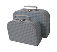 Image Gingham Cases, 2 set, Sky Blue/White