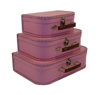 Image Mini Suitcases, 3 set, Pink Blush