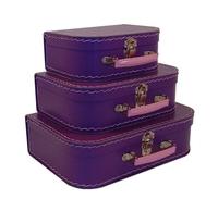 Image Mini Suitcases, 3 set, Purple