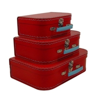 Image Mini Suitcases, 3 set, Red