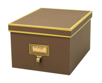 Image cargo® Atheneum Media Box, Brown