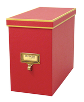 Image cargo® Atheneum File Box, Red