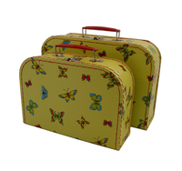 Image Mini Suitcases, 2 set, Butterfly Print